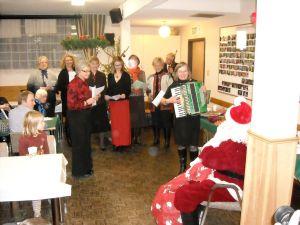 Christmas choir and Santa